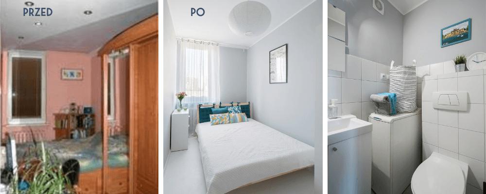 Home staging mieszkania na wynajem – Dwa pokoje w Warszawie