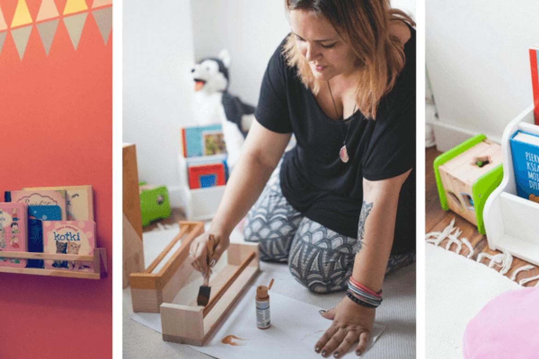 5 sposobów na przechowywanie książek dla małych dzieci