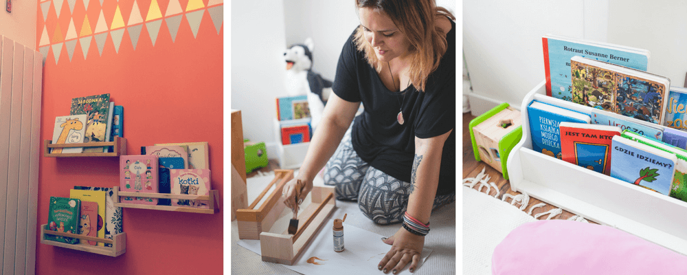 książki dla dzieci przechowywanie 5 sposobów Home Stagerka