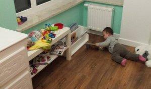 książki dla dzieci przechowywanie dla niemowlaka