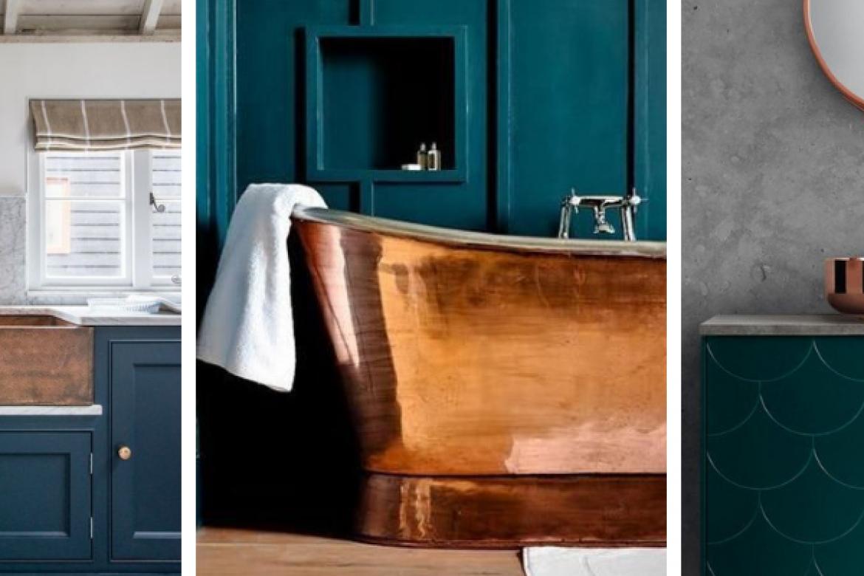 Miedź we wnętrzach – miedziane inspiracje dla domu