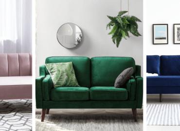 Inspiracje do salonu: Welur, aksamit… czyli cudownie miękkie i efektowne kanapy i sofy do naszych wnętrz